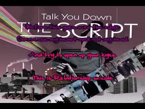 Talk You Down (The Script) Karaoke