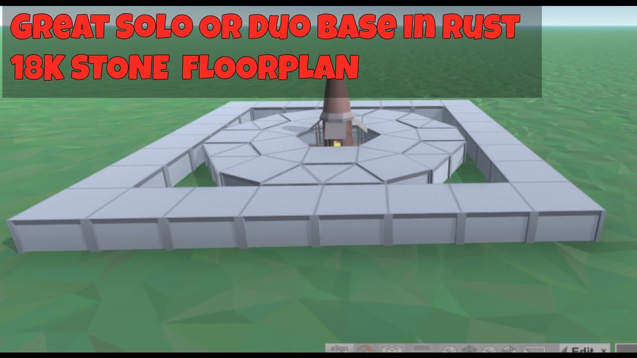 Great Rust Solo And Duo Base Floor Plan Fortify Youtube