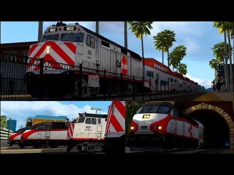 Caltrain commuter train action in Train Simulator 2017