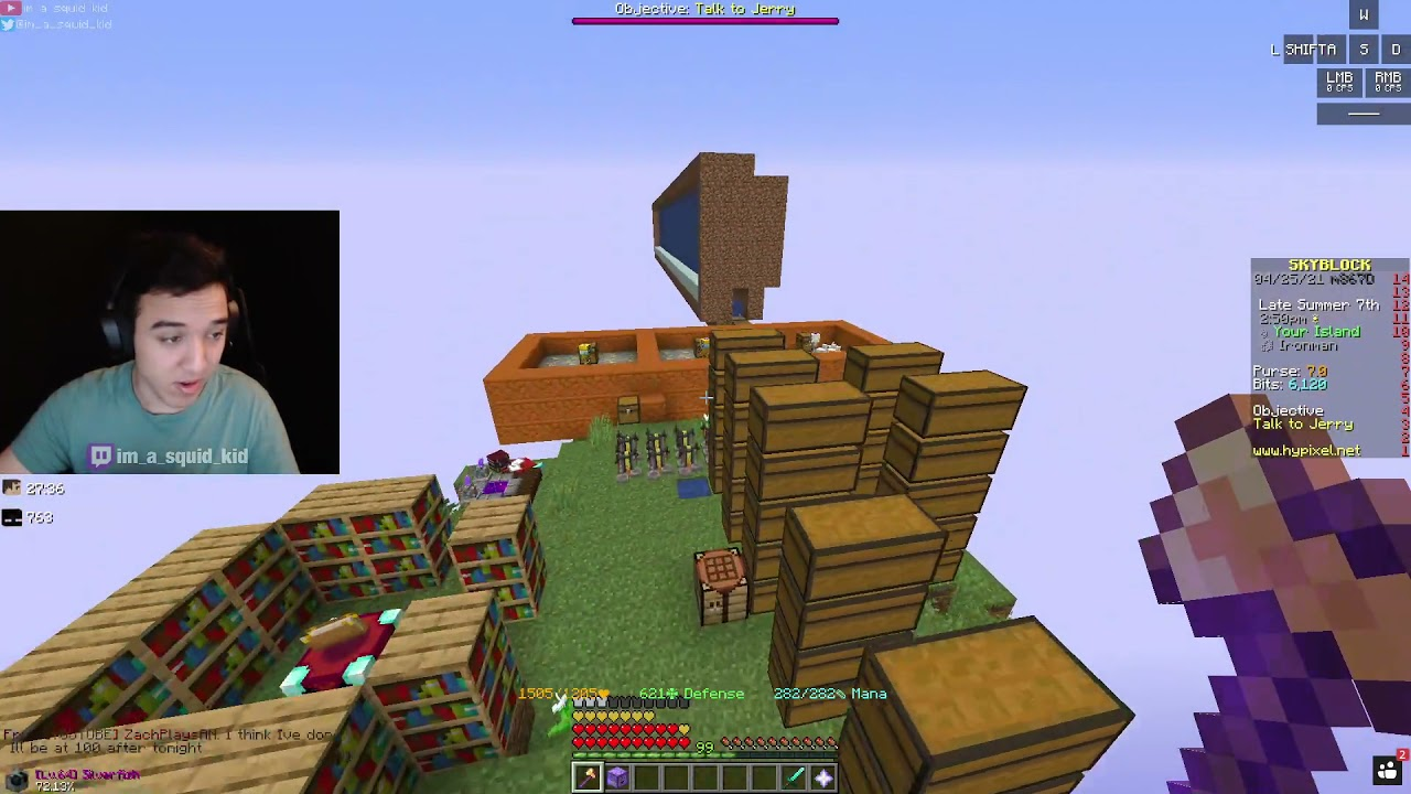 Download Ironman Grapes Profile Day #7 - Hypixel Skyblock [VOD]