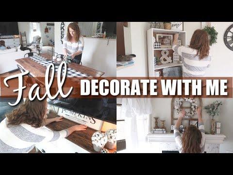 FALL 2019 DECORATE WITH ME | FALL FARMHOUSE DECOR | FALL HOME DECOR IDEAS