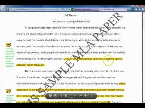 characteristics of research papers