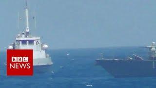 فيديو.. لحظة إطلاق البحرية الأمريكية النار على سفينة إيرانية