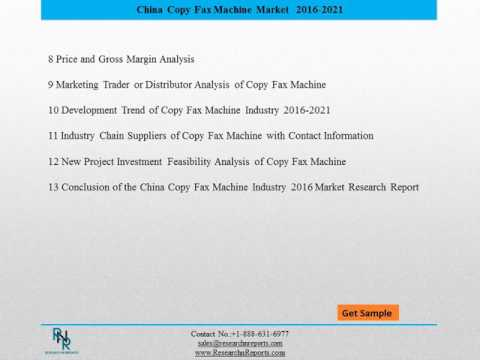 China Copy Fax Machine Market Reports Forecasts to 2021 and Analysis Reports