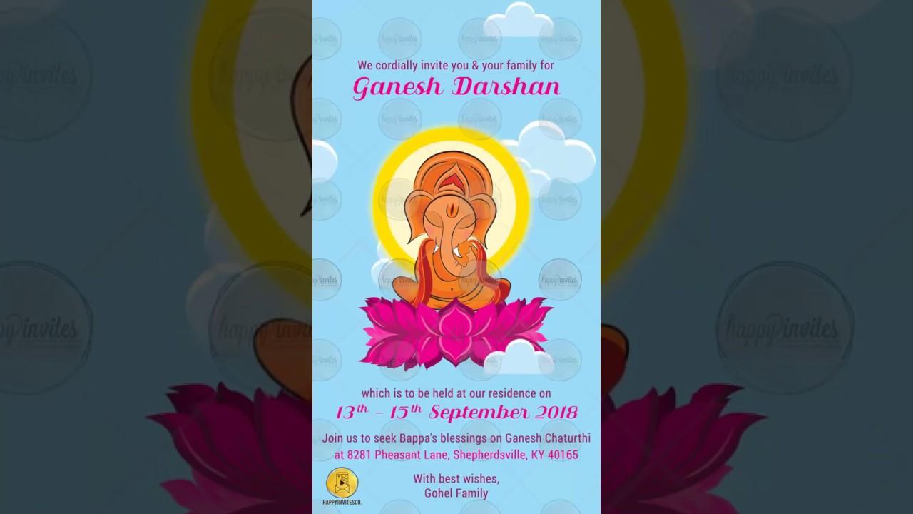 Ganesh Chaturthi Invitation Happy Invites Online