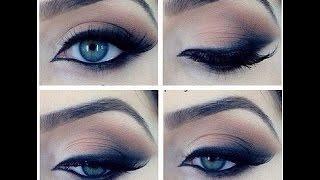 Макияж для голубых/карих/зелёных глаз. Makeup tutorial.(Вечерний макияж. Макияж для голубых/карих/зелёных глаз. Голливудский макияж. Макияж для всех форм глаз...., 2014-11-24T13:46:44.000Z)