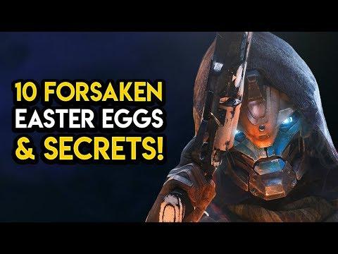 Destiny 2 Forsaken - 10 EASTER EGGS & SECRETS!