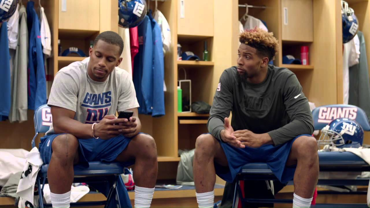 Victor Cruz And Odell Beckham Jr Locker Room Nfl Com Fantasy