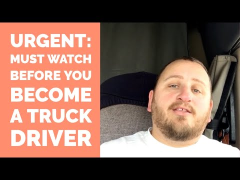 You NEED To Watch This Before You Become A Truck Driver