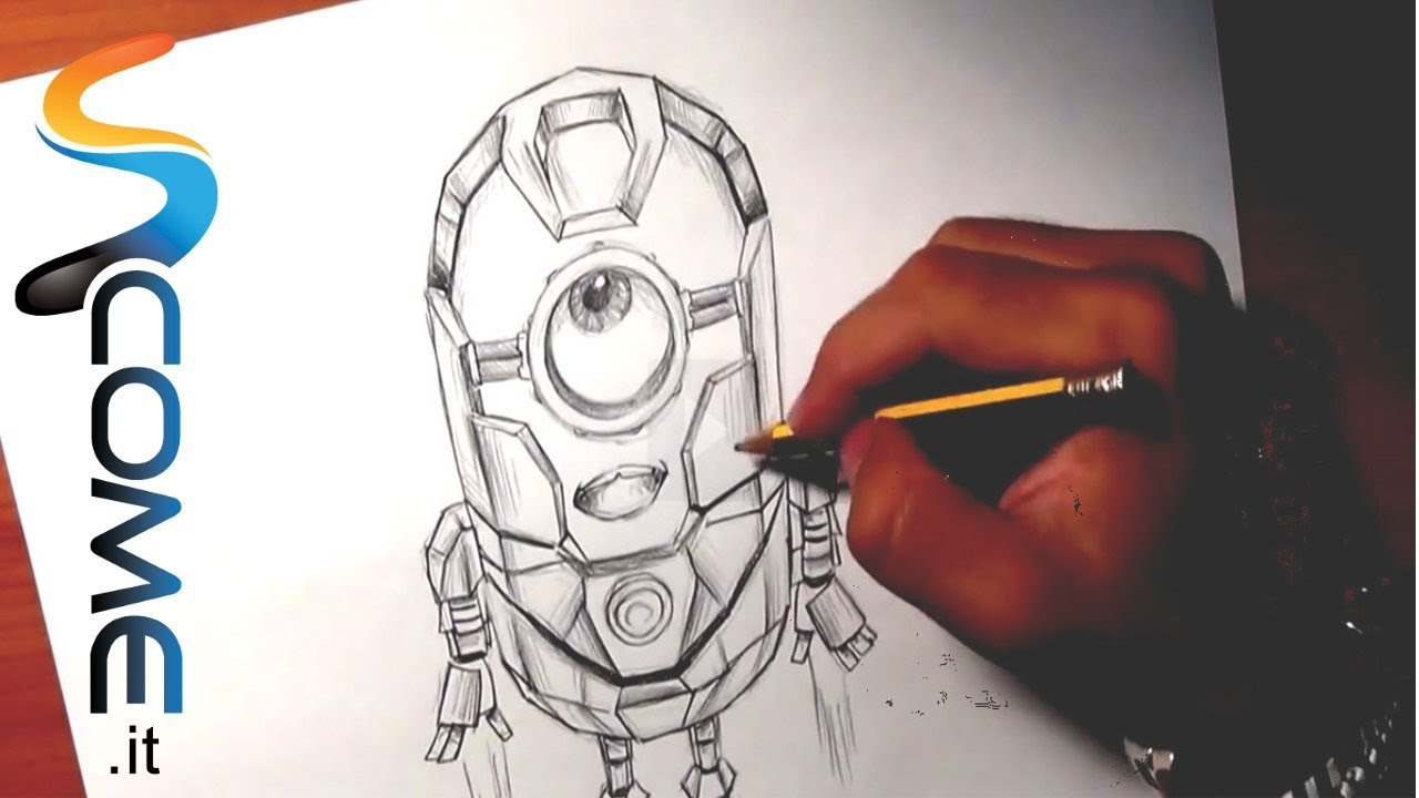 Guarda come disegnare il minion iron man di cattivissimo for Disegni da colorare iron man