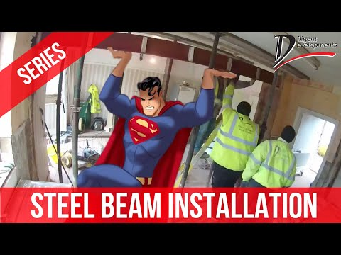 How To Remove Load Bearing Wall With RSJ Steel Beams / Bifold Doors Installation