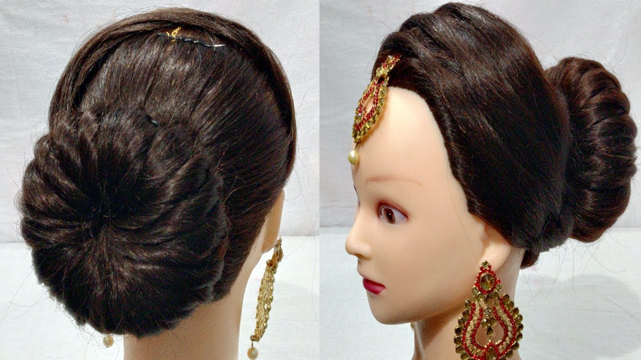 new latest juda hairstyle for wedding/party | perfect bridal