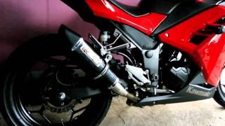 Akrapovic Trioval Custom Ninja 250FI SPS EXHAUST
