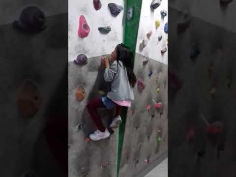 Alex wall climbing