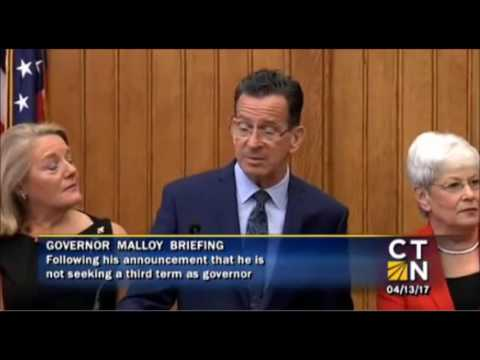 Ahhhnouncement from Connecticut Governor Dan Malloy