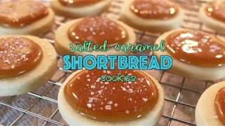 Salted Caramel Shortbread Cookies - Pretty Little Bakers