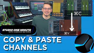 How to copy Channel Settings to another Song #StudioOneMinute