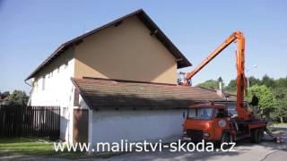 Nátěry fasády a dřevěného obložení rodinného domu