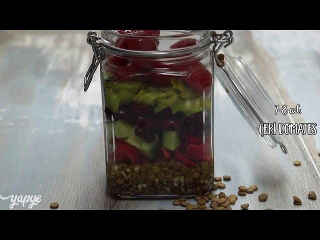 Fasulyeli Mercimekli Kavanoz Salata Tarifi, Nasıl Yapılır?