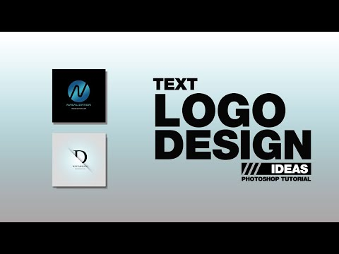 Simple Text Logo Design Tutorial - Photoshop Tutorials