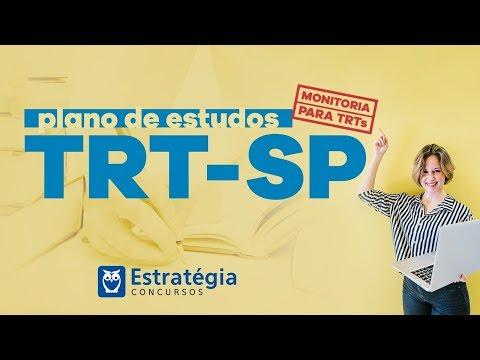 TRT-SP   Plano de Estudos Monitoria para TRTs  AO VIVO ÀS 9h30min