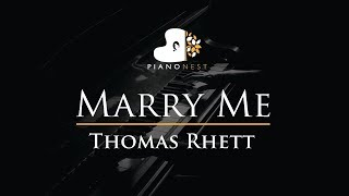 Thomas Rhett - Marry Me - Piano Karaoke / Sing Along / Cover with Lyrics