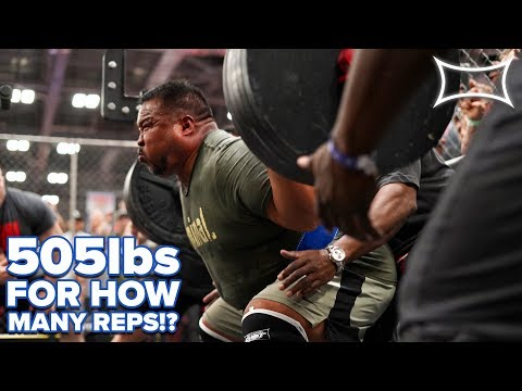 505lbs For HOW MANY REPS!? | [360° VIDEO] | GRANT HIGA Attempts To Beat Tom Platz FIBO Record