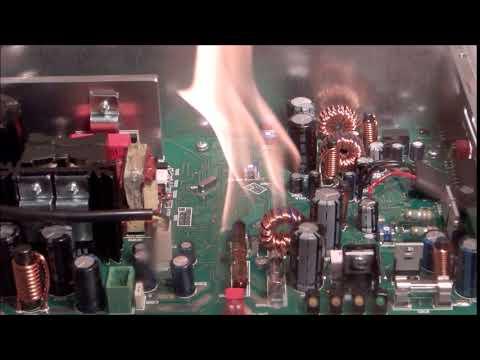 E-Bulb von JOB - Löschung eines Brandes in einem Netzgerät