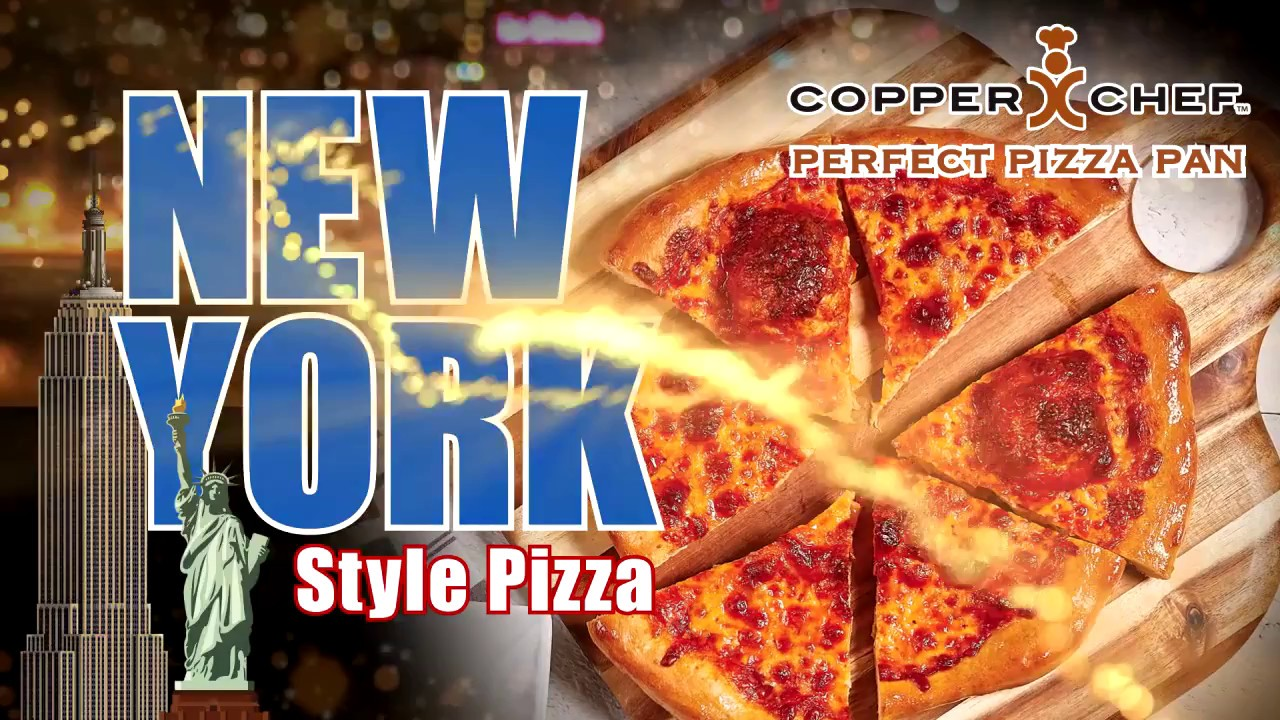 Make Ny Style Pizza In The Copper Chef Pizza Pan Youtube