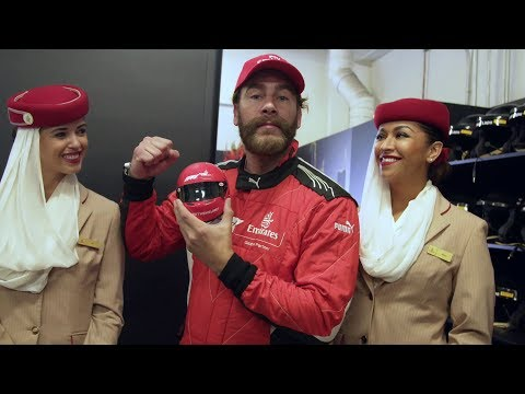 Carlos De La Mota experiences the Grand Prix circuit | F1 | Emirates Airline