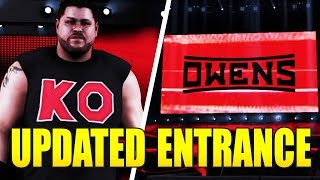 WWE 2K18 KEVIN OWENS UPDATED ENTRANCE! Red Graphics, Attire, and Custom Titantron! (w/Formula)