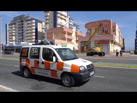 Coronavirus: Megafonía en los municipios costeros pidiendo la cuarentena de los madrileños