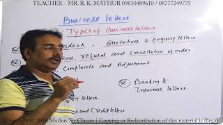 Business Letters and its type | Business communication | Mathur Sir Classes
