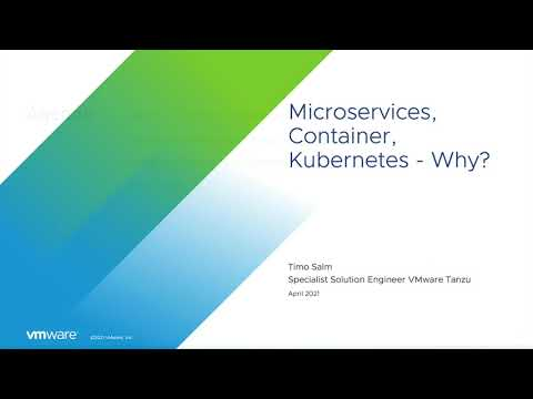 Why Microservices, Container, Kubernetes I VMware Tanzu