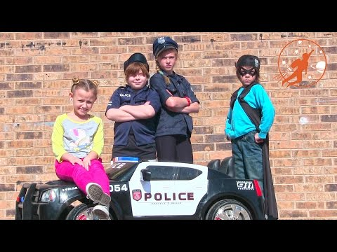 Little Heroes 19 - the Cops, the Police Car, the Toy Trucks, the Stealer and Supergirl