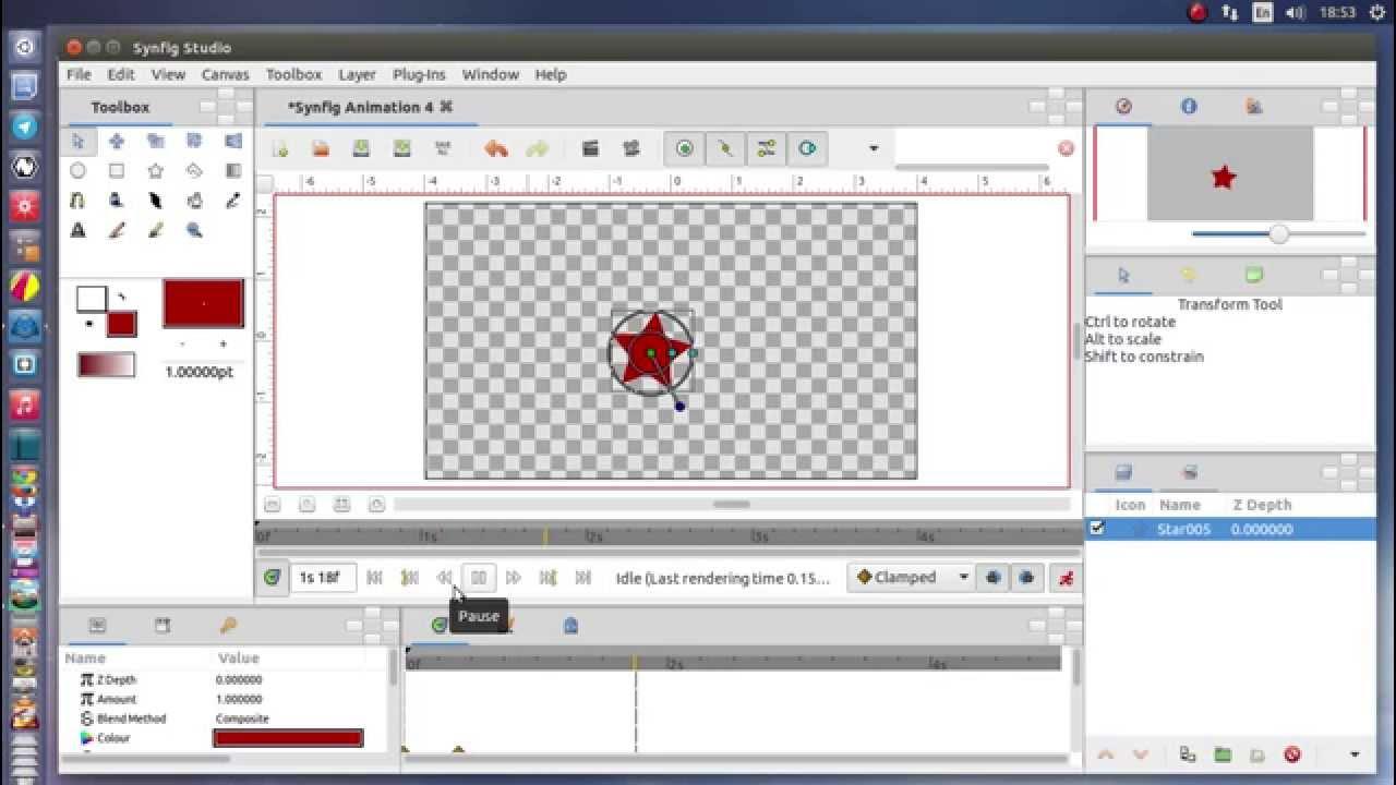 Synfig Studio 2D animation software Gtk3 on Ubuntu 15 04 linux