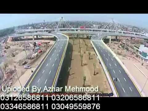 Latest aerial view of azadi chowk interchange  Lahore Pakistan