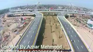 Latest aerial view of azadi chowk interchange  Lahore Pakistan