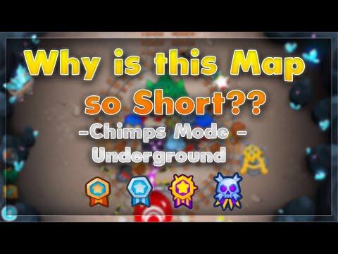 BTD 6 CHIMPS mode UNDERGROUND ADVANCED map