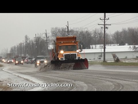 12/5/2013 Carbondale, IL Sleet Storm Hazards B-Roll