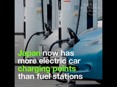 Japan now has more electric car charging points than fuel stations