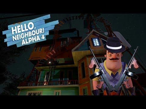 Komşunun Evine Silahlı Saldırı - Bodrum Katı - Oyun Bitti - Hello Neighbor Alpha 4