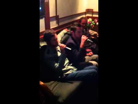 Derrick and Zack karaoke