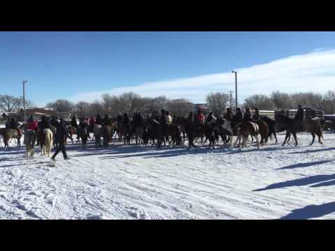 Chief Big Foot Riders Leaving Kyle / Red Water 12-27-2015