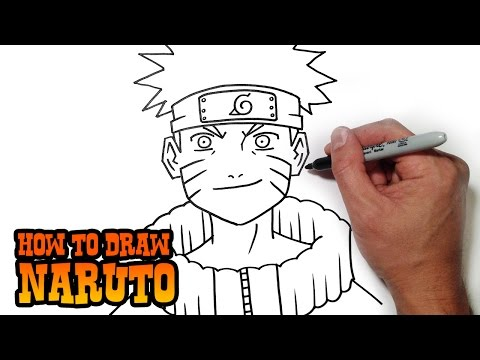 How to Draw Naruto- Simple Video Lesson