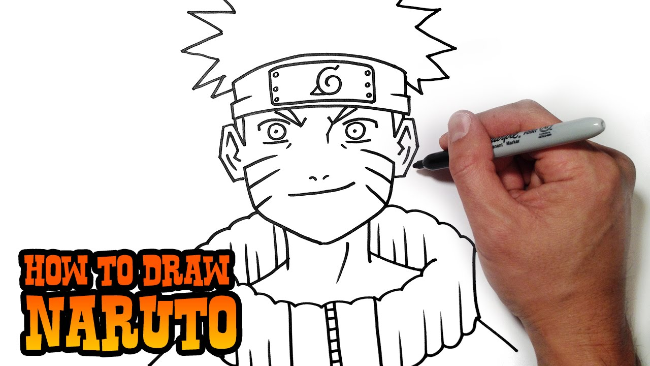 How to draw naruto simple video lesson youtube