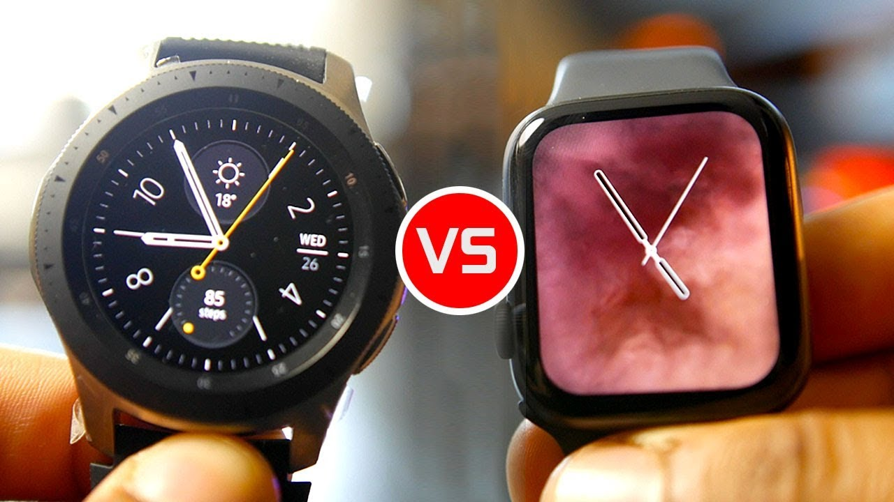 589036d3b Apple Watch Series 4 vs Samsung Galaxy Watch - YouTube