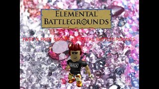 (2019) STILL WORKS HOW TO GET GEMS FAST N FREE ROBLOX ELEMENTAL BATTLEGROUNDS