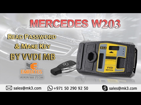 MERCEDES W203 READ PASSWORD & MAKE KEYS BY VVDI MB
