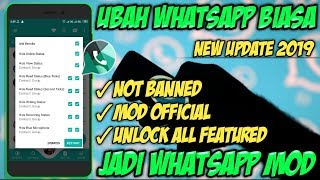 Gambar cover TUTORIAL UPGRADE WHATSAPP BIASA JADI WHATSAPP MOD OFFICIAL ANTI BLOKIR | DICKY ID